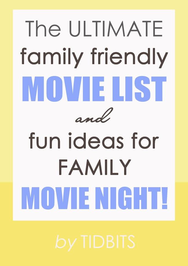 Family Movie Night Ideas - Tidbits