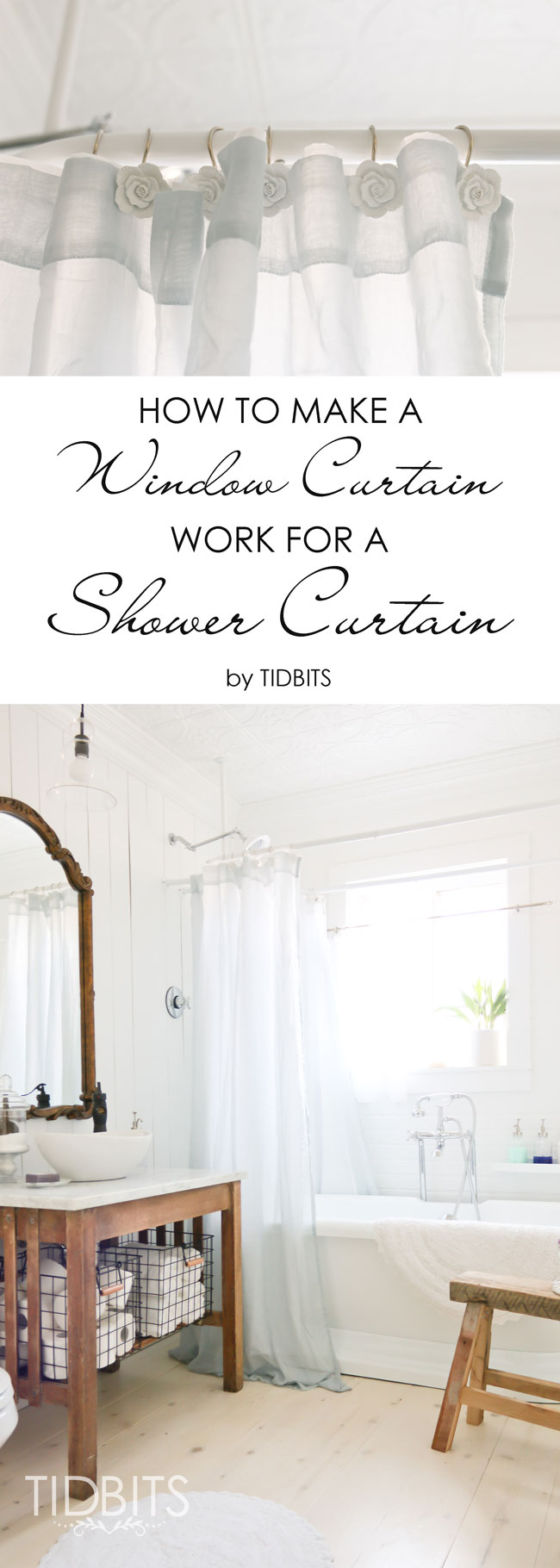how to make a window curtain work for a shower curtain tidbits how to make a window curtain work for a shower curtain don t limit