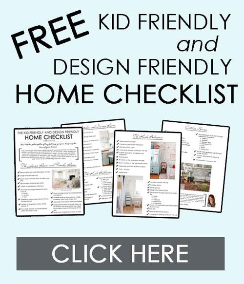 The kid friendly and design friendly home checklist tidbits Kid friendly home decor