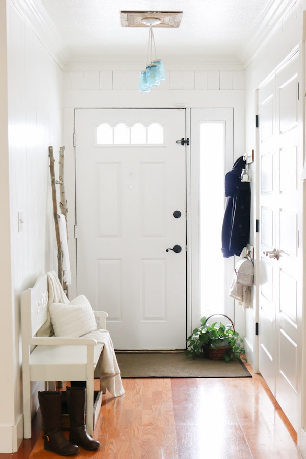 Entry way before and after makeover tour.