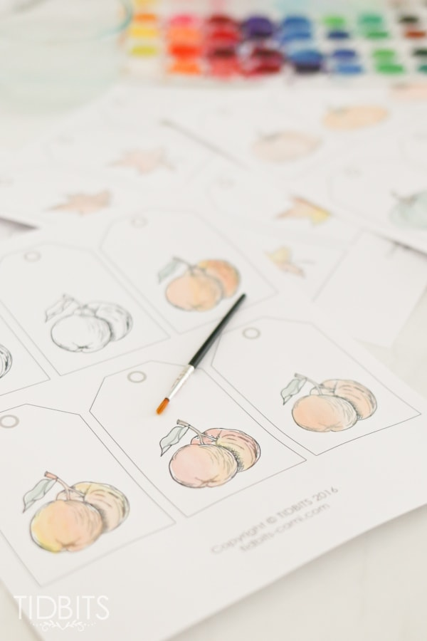 Fall Printable Watercolor Tags + Tons of FREE Fall Printables from your favorite bloggers!