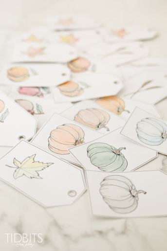 Fall Printable Watercolor Tags