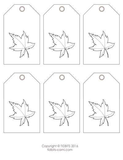Leaf Tag Printable