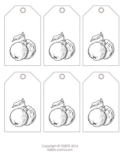Peach or Apple Tag Printable