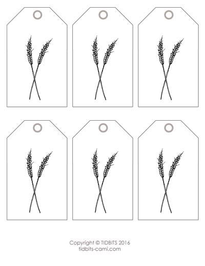 Wheat Tag Printable