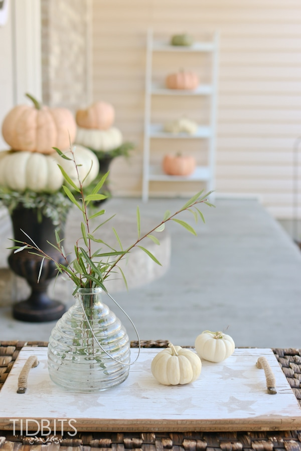 Simple and lovely Fall front porch decor.