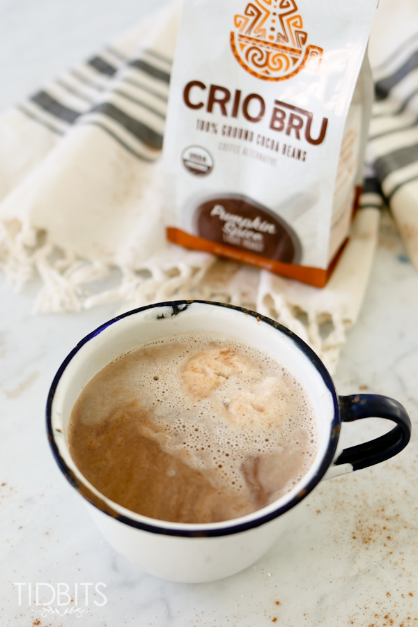 Pressure Cooker Crio Bru - a delicious and healthy alternative to sugary hot chocolate and addicting coffee.