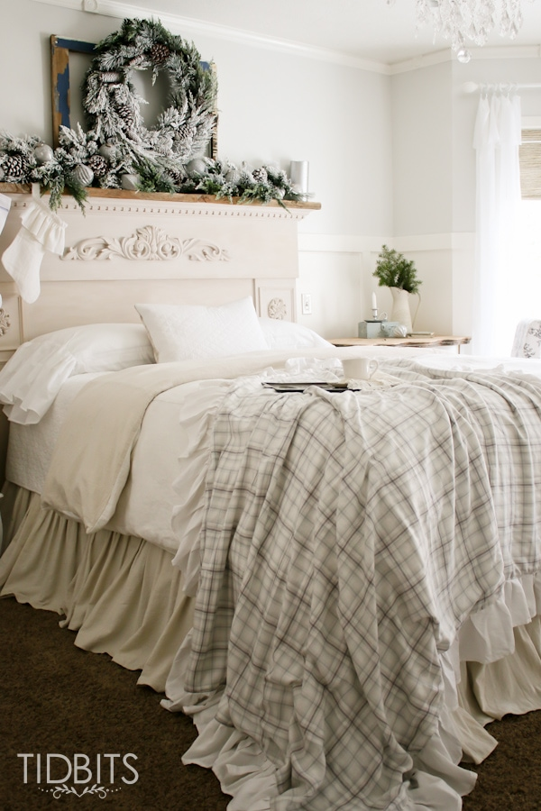 French farmhouse christmas master bedroom tidbits for French master bedroom