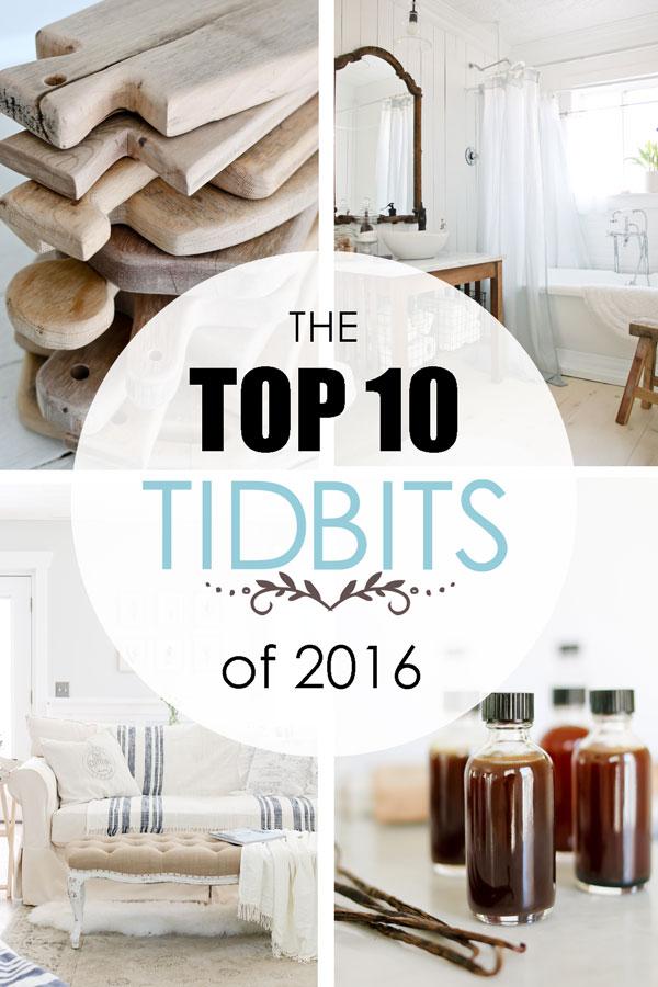The Top 10 TIDBITS of 2016