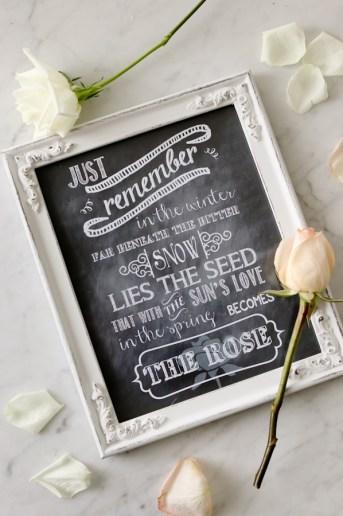 """The Rose"" Song Lyrics   Free Printable"