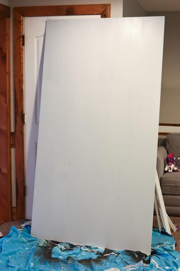 diy large framed chalkboard learn how to make chalkboard paint in any color - Diy Framed Chalkboard