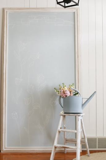 DIY Large Framed Chalkboard – IN ANY COLOR!