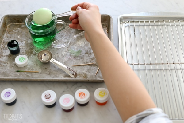 How to dye eggs with food coloring. Skip the store bought kits and customize your own colors!