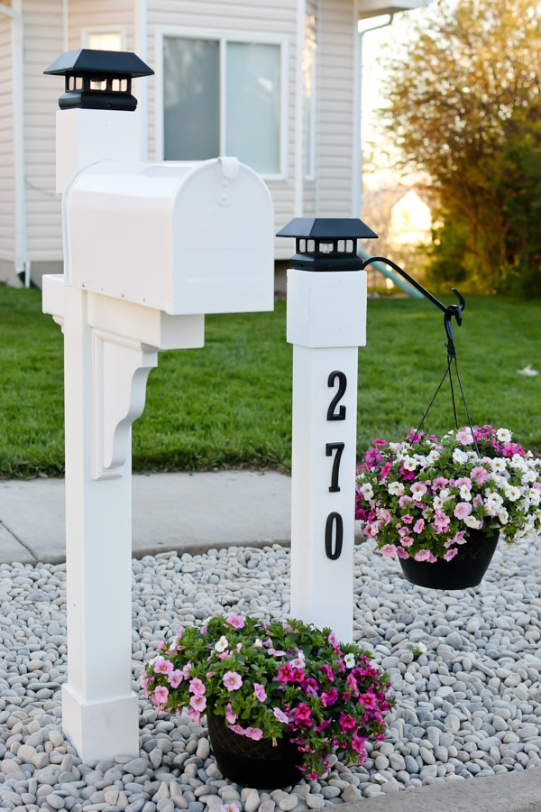 curb appeal project mailbox makeover tidbits Mailbox Post with Solar Light Solar Group Mailbox Company