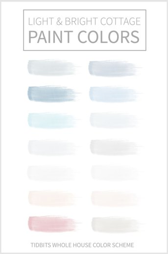 Light and Bright Cottage Paint Colors