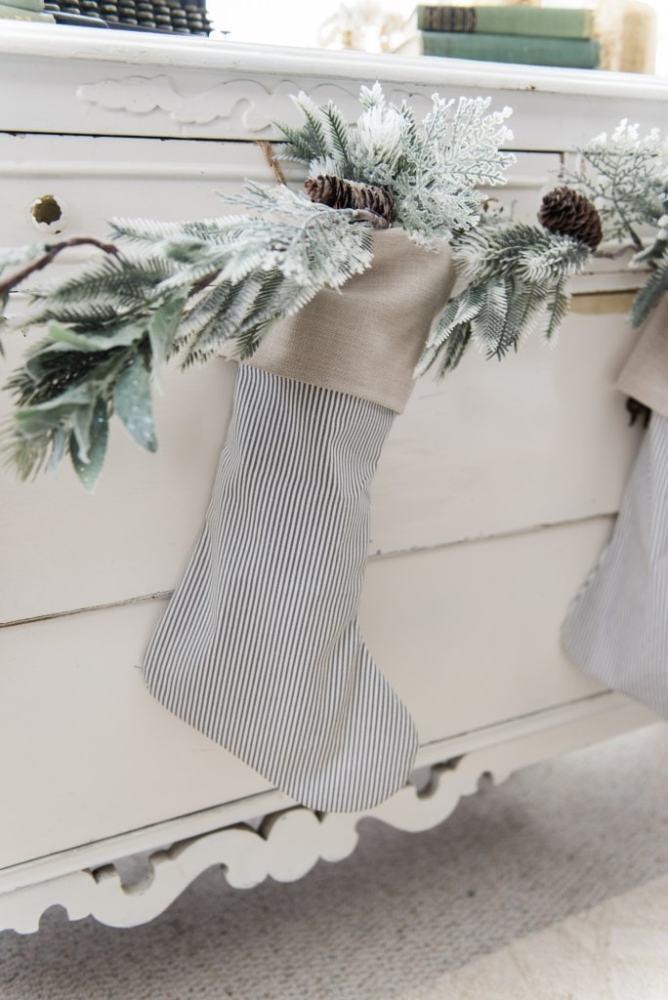 Blue Christmas stockings