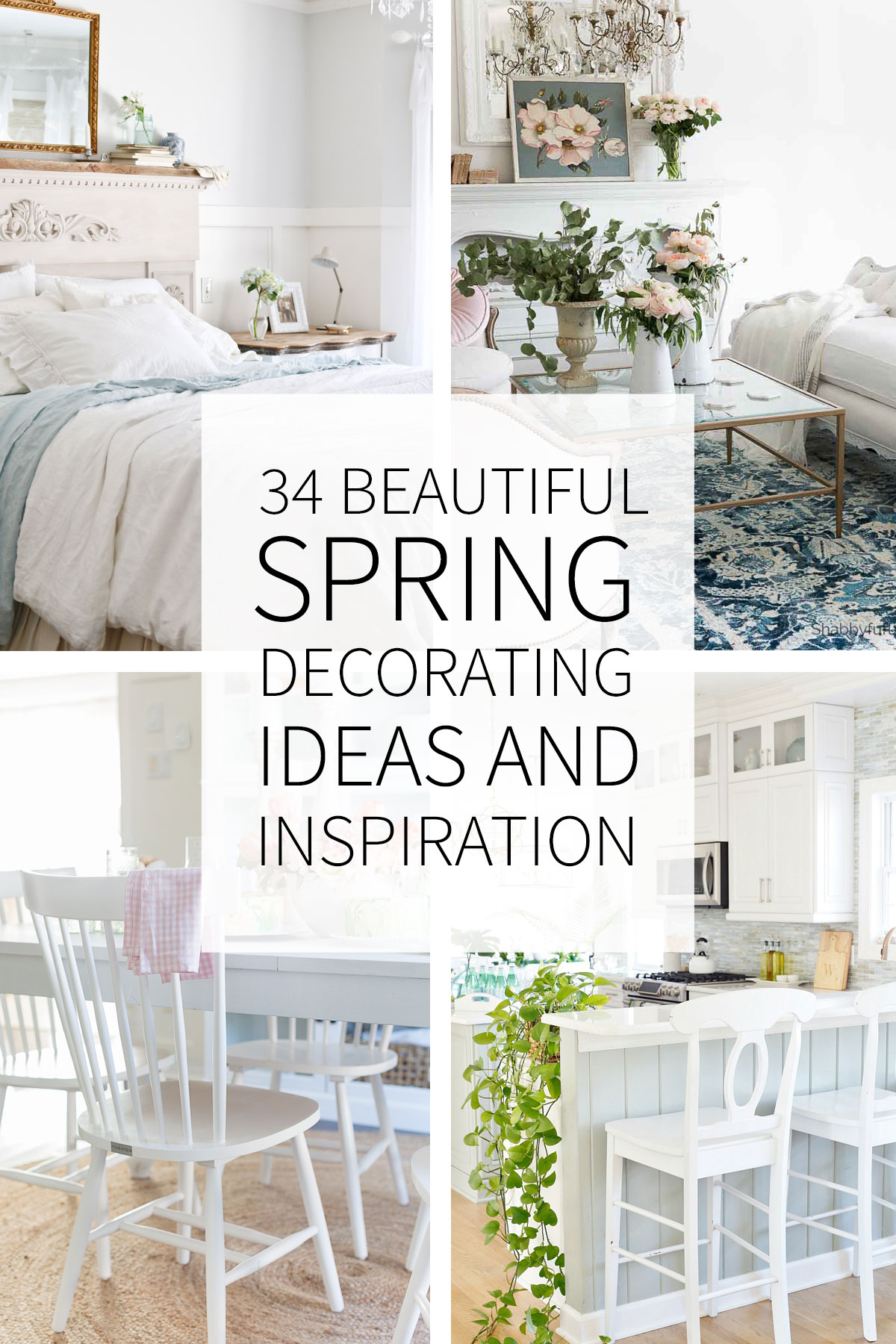 Spring Decorating Ideas: 34 Inspiring And Beautiful Spring Decorating Ideas