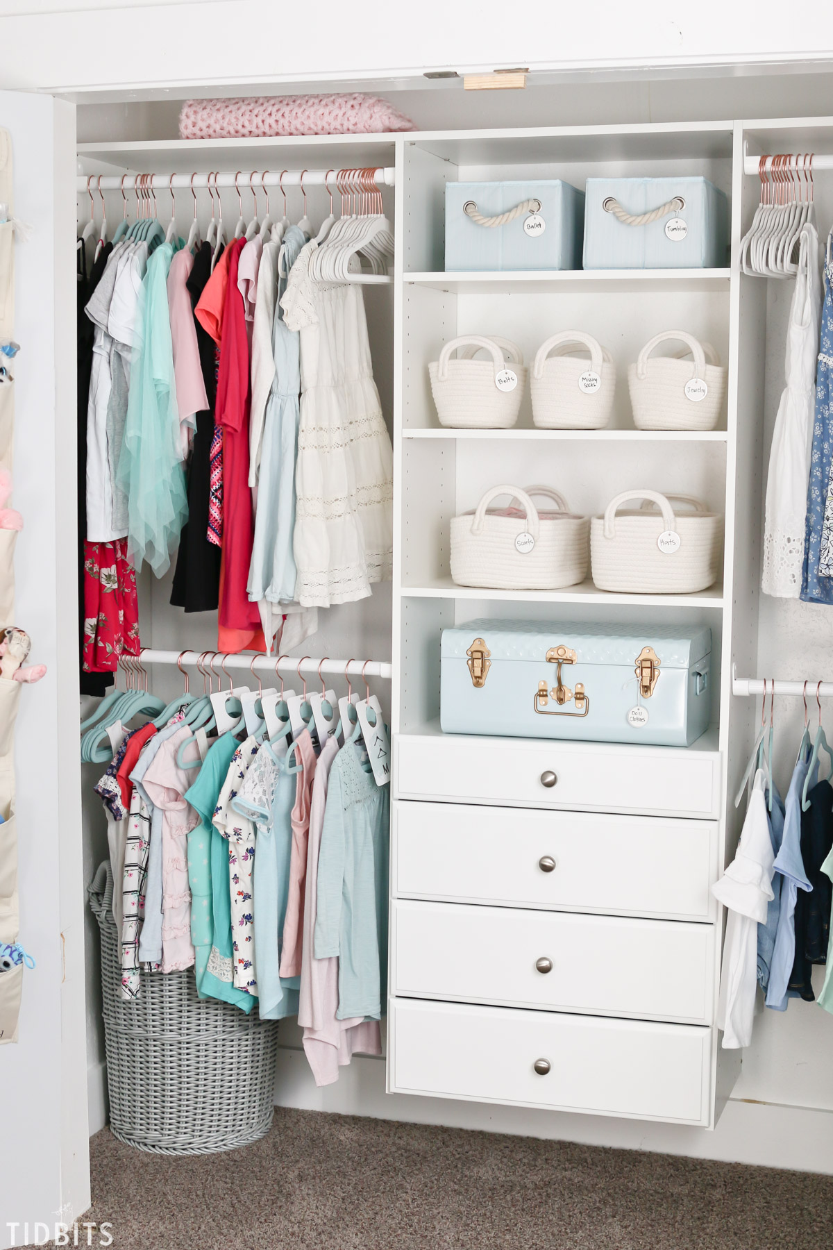 Kids closet organization tidbits for 1800 closets