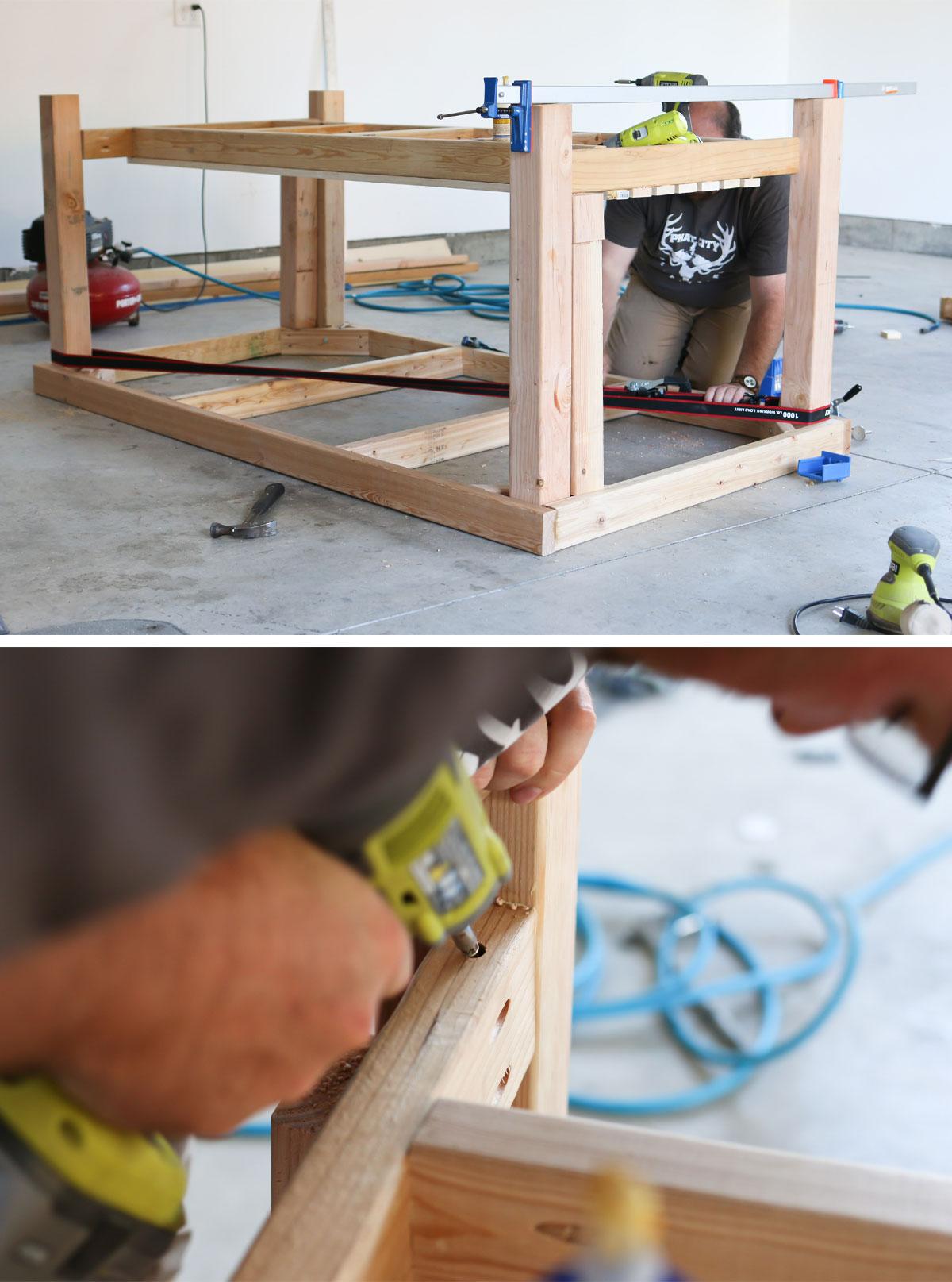 Diy Rolling Work Table Kitchen Island Tidbits