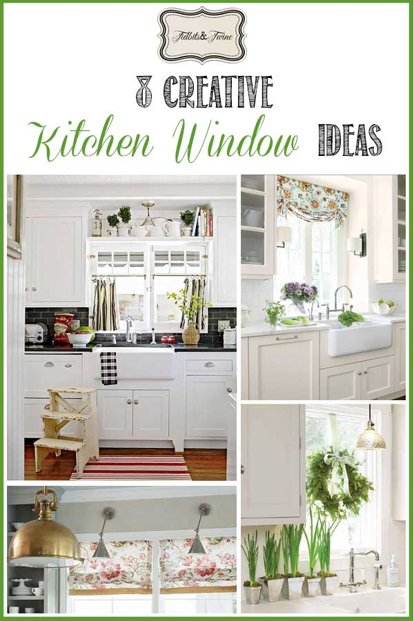 kitchen window without using a curtain