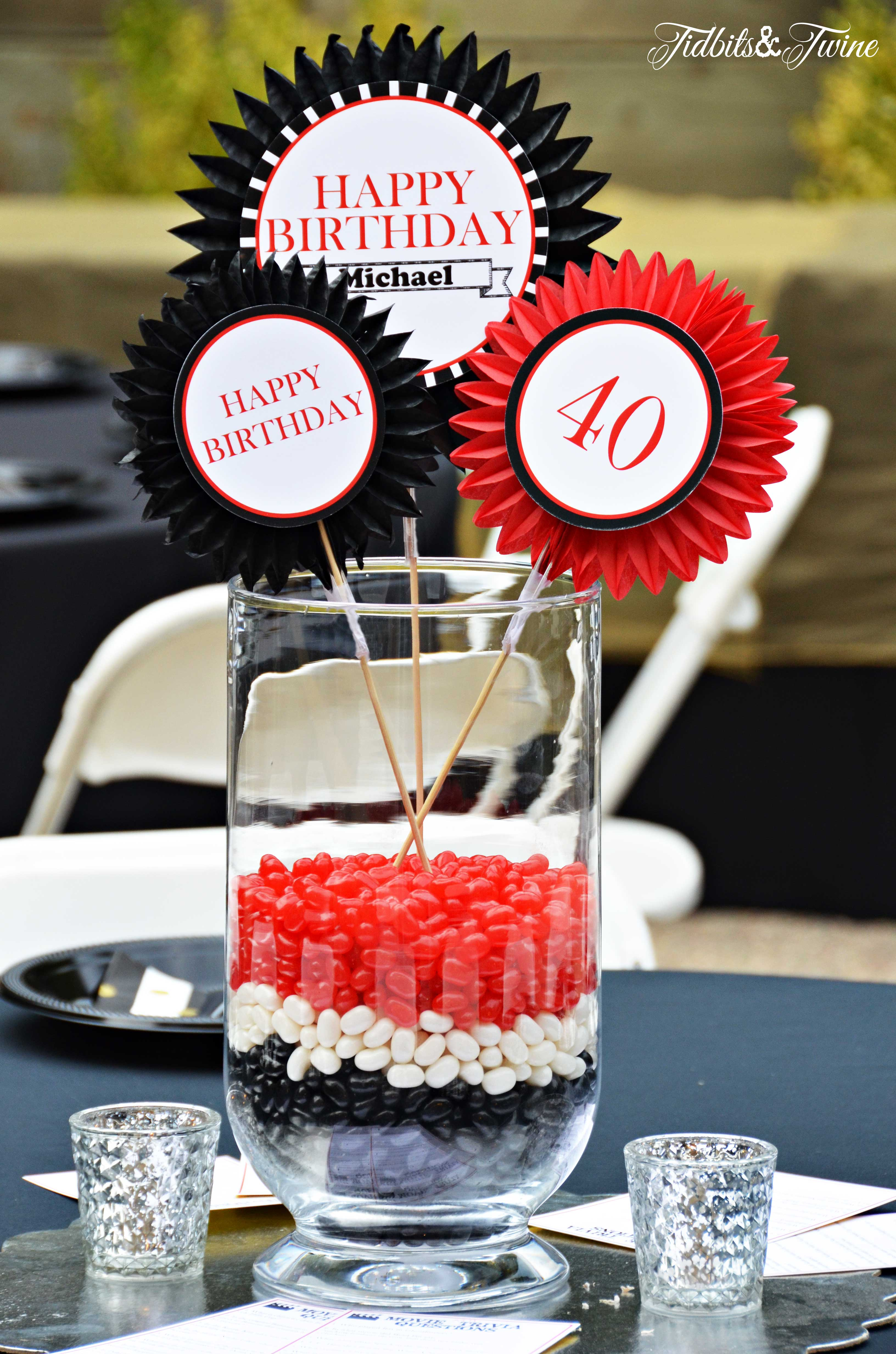 40th Birthday Outdoor Decorations