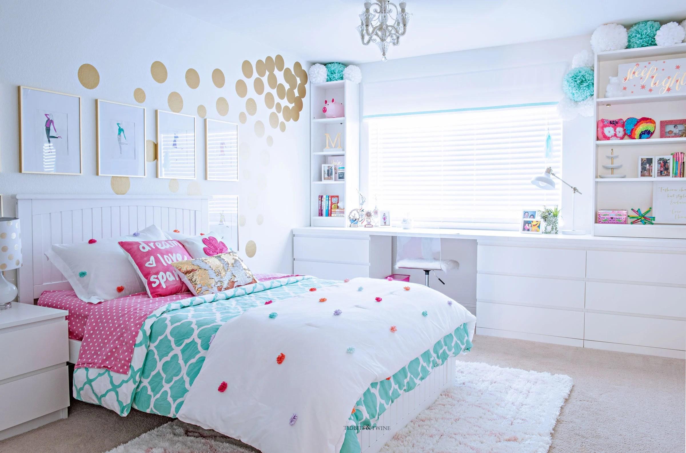Teen/Tween Girls Bedroom Makeover Idea on a Budget ... on Room Decoration Girl  id=16133