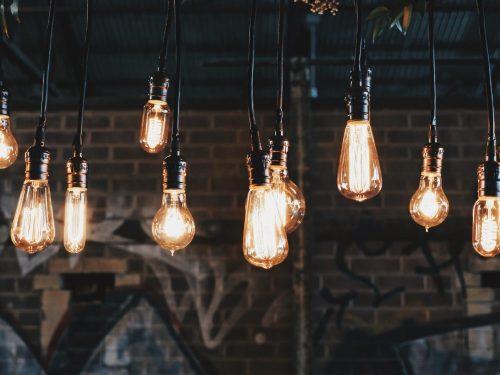 lysande glödlampor