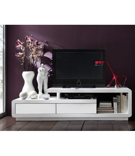 meuble tv laque blanc daryl