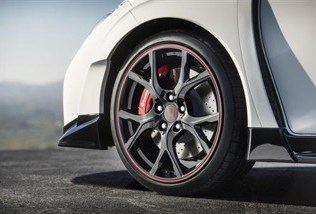 Picture of a standard Honda alloy wheel