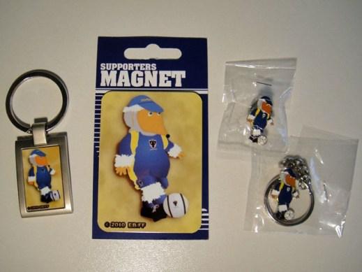 Haydon magnet, keyrings and badge