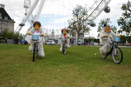The Wombles cycling at the London Eye