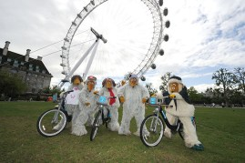 The Wombles at the London Eye
