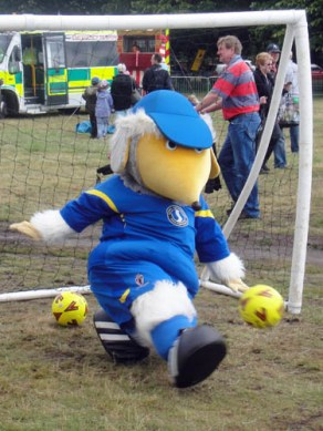 Haydon the Womble in goal