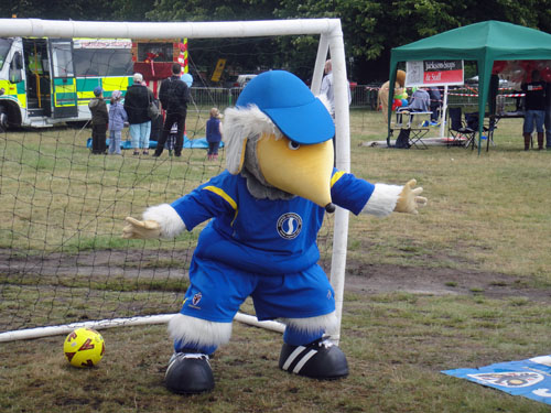 Haydon the Womble in goal