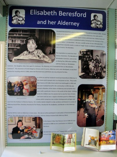 Display board about Elisabeth Beresford's life