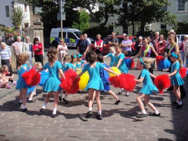 Alderney's KFA Sunbeams perform their Womble Dance