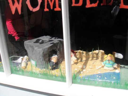 Alderney burrow/bunker window display