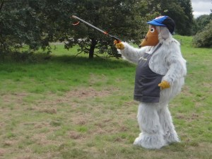 Wellington leads the way with his litterpicker