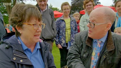 Kate Robertson with Clive Farahar on the Antiques Roadshow