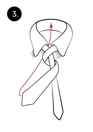 tie a necktie with four in hand step 3 dailytopinformation.com