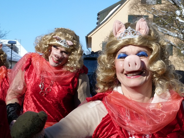 zauberhafte Miss Piggys auf dem Faschingsumzug Obergünzburg 2013