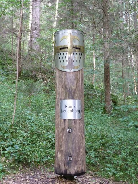 Durachtobel-Wegweiser-Burgruine