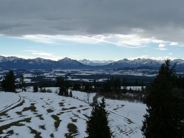 Panoramablick vom Auerberg Richtung Füssen
