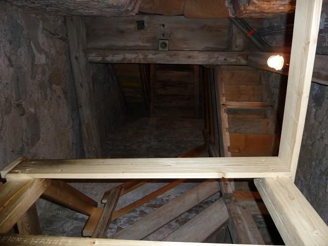 Treppe im Turm der Kirche St. Georg auf dem Auerberg