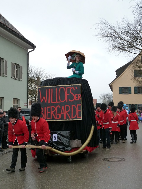 Faschingsumzug Obergünzburg 2014 - Biergarde aus Willofs