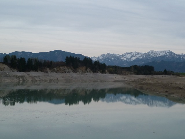 Forggensee bei Niedrigwasser