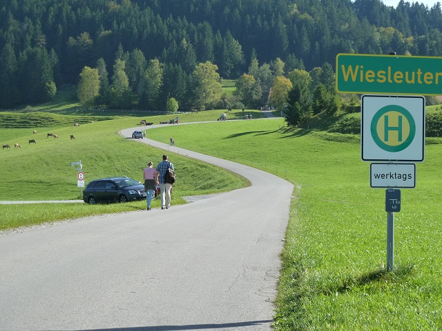 Ausgangspunkt der Rundwanderung zur Alpe Beichelstein bei Wiesleuten