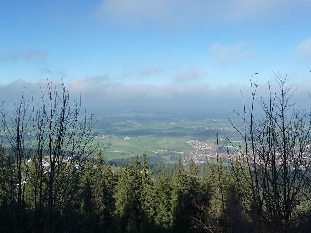 Panoramablick auf  Nesselwang von der Alpspitz