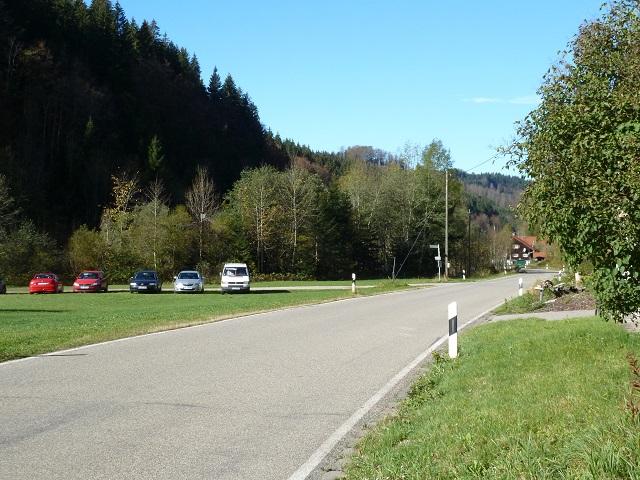 Wanderparkplatz am ehemaligen Wirtshaus zum Batschen in der Adelegg