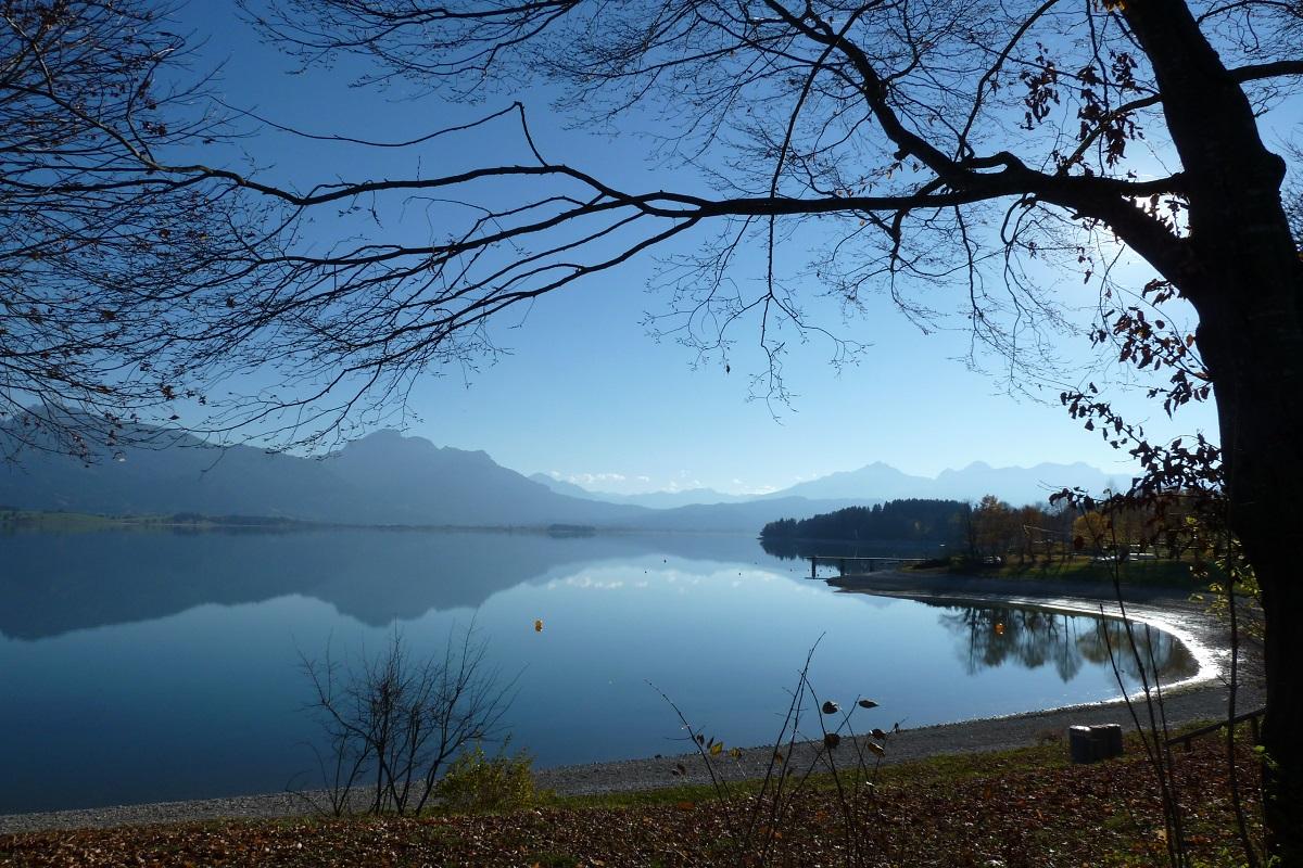 Radtour rund um den Forggensee - traumhaft schön im Spätherbst